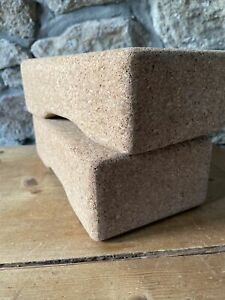 Two Cork Yoga Blocks