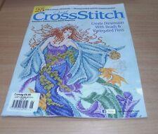 Just Cross Stitch magazine JUN 2017 Joan Elliot Mermaid, Assisi Embroidery &more