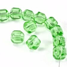 8mm Peridot Baroque Cathedral Bead (25 Pcs) #GEQ103