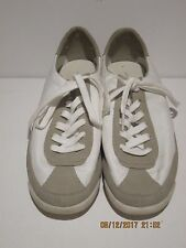 Zara Basic Collection Lace Up WHITE/GREY  Walking Sneakers Size 40 GREAT COND FS