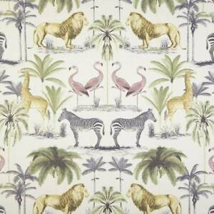 Designer Cotton Fabric - Longleat Acacia Safari Fabric - Upholstery, Curtains
