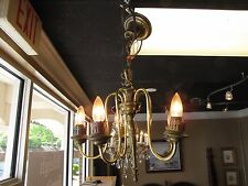 1930s/1940s Brass Chandelier at The Raleigh Furniture Gallery
