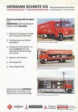 Mercedes Feuerwehrfahrzeuge Hurowa Prospekt 1980 fire engine truck Feuerwehr Lkw