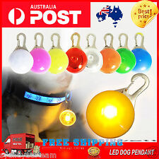 LED PIG HUNTING DOG PET TAG PENDANT LEASH FLASHING WARNING SAFETY NIGHT LIGHT