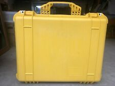 Used Yellow Pelican 1550 Hard Case W/ No Rubber Handle Camera Drone Video Tools