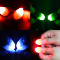 2Pcs Magic Super Bright Light Up Trick Thumbs Fingers Appearing Light Close Up