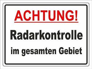 Hinweisschild Radarkontrolle Aluverbundplatte 3mm - 30x40cm RA3