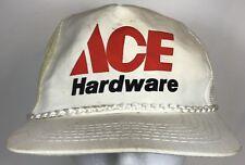 b5b7a7f78984d Vintage Ace Hardware Employee Mesh Trucker Snapback Hat Cap White