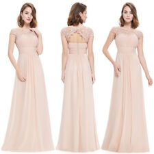 Ever-Pretty Long Bridesmaid Wedding Dresses Lace Backless Evening Gown 09993