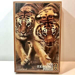 NEW 2000 PIECE BENGAL TIGERS PUZZLE (FX SCHMID) NEW IN BOX Beautiful Artwork