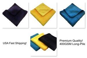 Case 72 400GSM 16x16 Microfiber Cleaning/Detailing Towels, Long-Pile PREMIUM