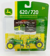 2016 ERTL 1:64 JOHN DEERE Model 620 & 720 *60th Anniversary SET* NIP!