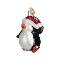"""Dancing Penguin"" (16095)X Old World Christmas Glass Ornament w/OWC Box"
