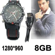 Waterproof  8GB Spy Video Watch Camera HD 1280*960 Hidden DV DVR Camcorder HOT!!