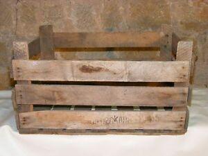 Beautiful Large Old Wooden Box, Loan Packaging, Art Deco Shelf Box