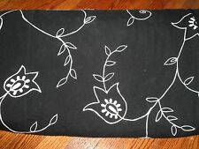 Pottery Barn B + B Black and White Embroidered Duvet Cover Twin Flower