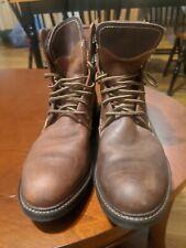 Johnston & Murphy McHugh Lace Up Waterproof Shearling Boots Brown Size 9M