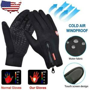 Men Women Winter Warm Windproof Waterproof Thermal Touch Screen Gloves Mittens.