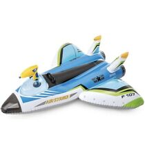 Intex Water Gun Plane Ride - On Kids Swimming Pool Float With Squirt Gun Blue