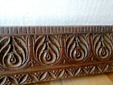 Ancient Rare Wood Fine Hand Carved Collectable Floral  Door Panel