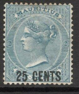 MAURITIUS 1878  SG 88   25c. M.Mint NO Gum  Good Looking Sound Collectable stamp