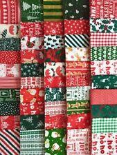 Polycotton Holiday/Christmas Craft Fabric Remnants