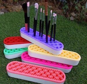 Make-Up Pinselhalter Kosmetik Aufbewahrungsbox Organizer Halterung Silikon neu