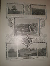 Printed photos terminus TransSiberian railway Dalny Dalian russia now China 1903