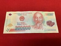 200,000 VIETNAM DONG CURRENCY - 1 X 200,000 VND BANKNOTE - CIRCULATED CONDITION