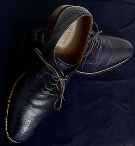Cole Haan Williams Medallion Toe II Oxford Leather C21310 Blazer Blue - Sz 13