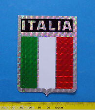 ITALIA BANDIERA FLAG - adesivo-sticker anni '80 - NUOVO-NEW -A43