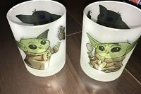 The Child Grogu Star Wars 2 Frosted Drinking Glasses Mandalorian Baby Yoda
