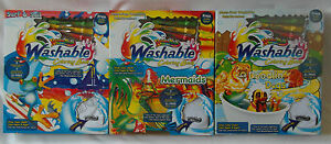 Rainbow Brush Washable Colouring Book Mermaids, Dogs, Surf & Sail - mess free