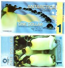 Antarctica Billet 1 DOLLAR 14/12/ 2011 PENGUIN NEW DESIGN NOUVEAU NEUF UNC