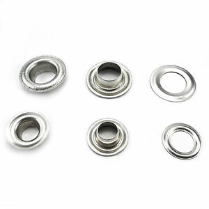 Aluminium eyelets and grommets for banners 10 12 or 17 mm