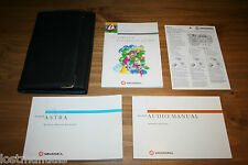 VAUXHALL ASTRA OWNERS MANUAL / USER HANDBOOK WALLET, 1998-2005 Mk4,AUDIO MANUAL