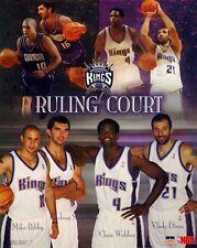 Sacramento Kings Collage Webber Bibby Divac Peja 16x20 Starline Poster OOP