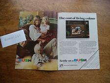 BUSH  TV WITH WOMBLES   VERY SCARCE   VINTAGE  MAGAZINE ADVERT  78