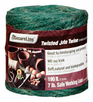 SecureLine  190 ft. L Green  Twisted  Jute  Twine