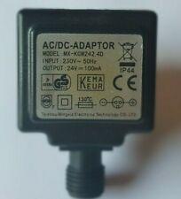Trafo IP44 Netzteil 24V - AC-DC Adaptor - 100mA Steckernetzteil 230V~ LED Lampen