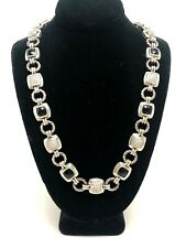 "David Yurman .925 Black Onyx / Diamond Renaissance Necklace 16.5"" Length"