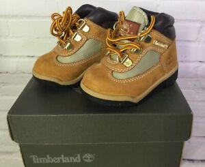 Timberland Toddler Boys Girls Size 4 Field Boot Wheat Nubuck Waterproof 15845