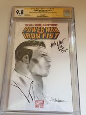 Power Man Iron Fist #1  CGC 9.8 2x SS Mike Colter Sketch Signed Jae Lee