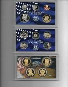 2008 S Clad Proof Set w 14 Coins w/ Box & COA Mirror finish coins