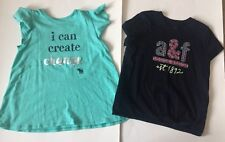 EUC Abercrombie Kids Lot Of 2 T-shirts Tops A&F 9/10