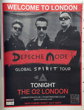 DEPECHE MODE THE O2 LONDON NOVEMBER 2017 FULL PAGE ADVERT GLOBAL SPIRIT TOUR