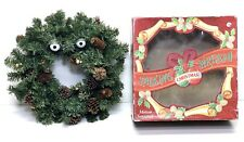 "1997 Gemmy Animated Singing/Talking Christmas Wreath W/Box 14"" - Parts/Repair"