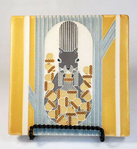 MOTAWI Tile Works Squirrel/October. Mission Style Design. 6 x 6 inches.