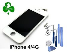 For Apple iPhone 4 LCD Touch Screen Display Digitizer Glass White With Tools