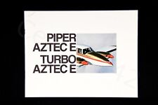 PIPER Vintage AZTEC E & Turbo Brochure 1970 Color Rare USA 14 Pages Gift